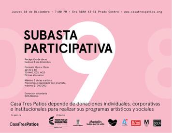 Artistas de la 9ª subasta participativa C3P