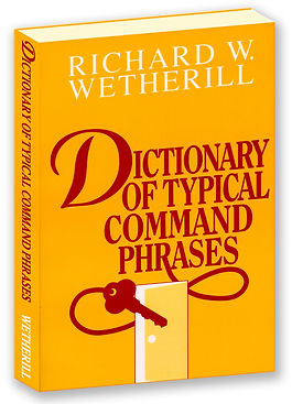 Dictionary of Typical Command Phrases book