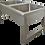 Thumbnail: Ванна моечная 2-х секционная (1300Х700Х800)