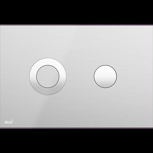 Кнопка управления (нержавеющая сталь-полумат/глянец), Alcaplas Turn Inox