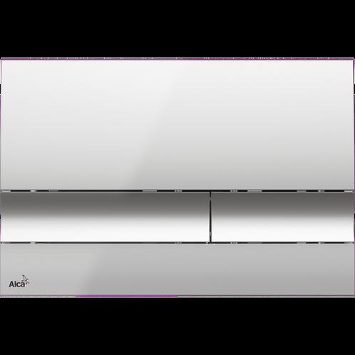 Кнопка управления (хром-глянец) для скрытых систем инсталляции, Alcaplast M1721