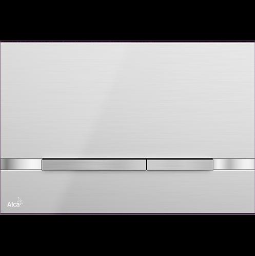 Кнопка управления (нержавеющая сталь-полумат/глянец) Alcaplast Stripe Inox
