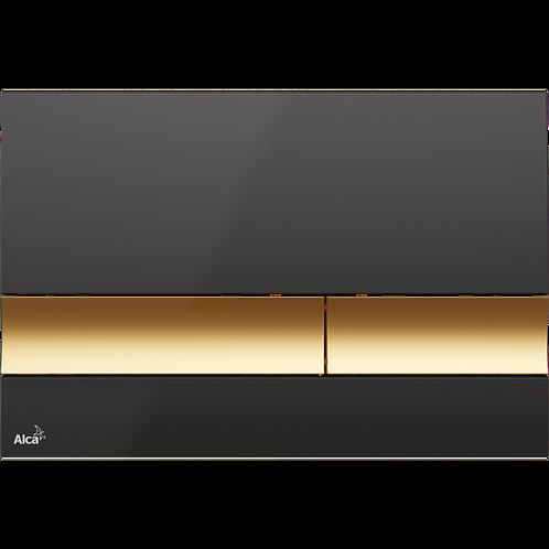 Кнопка управления (черный/золотой) для систем инсталляции, Alcaplast M1728-5