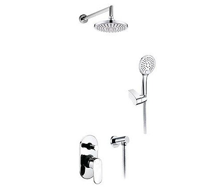 А14029 Встраива-мый комплект для душа с верхней душ нас-кой и лейкой WasserKRAFT