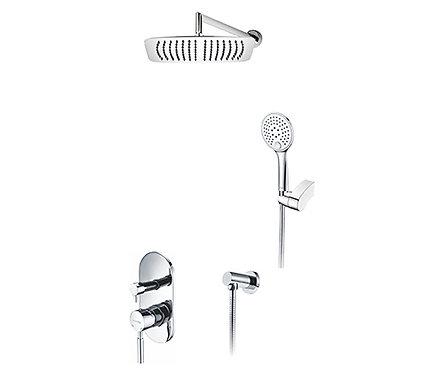 A16169 Встраиваемый комплект для душа с верхней душ насадкой и лейкой WasserKRAF