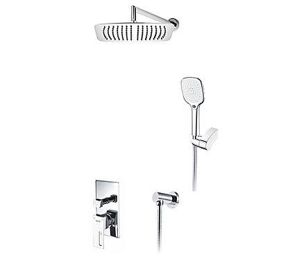 A16069 Встраиваемый комплект для душа с верхней душ насадкой и лейкой WasserKRAF