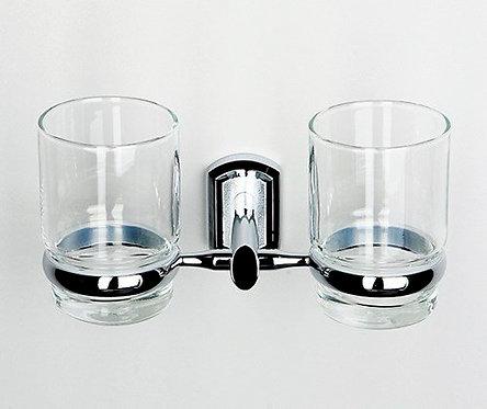 K-3028D Подстаканник двойной стеклянный WasserKRAFT