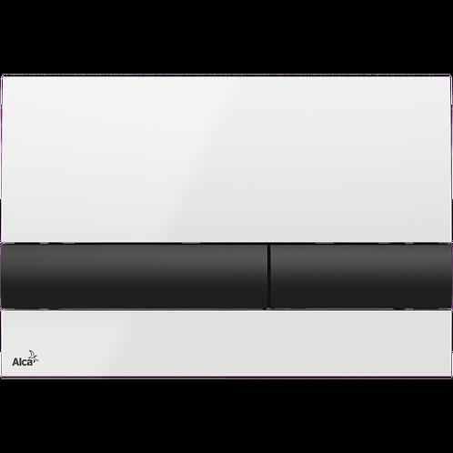 Кнопка управления (бело-черная) для систем инсталляции, Alcaplast M1710-8