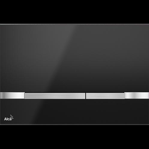 Кнопка управления (нержавеющая сталь-черный глянец) Alcaplast Stripe Black