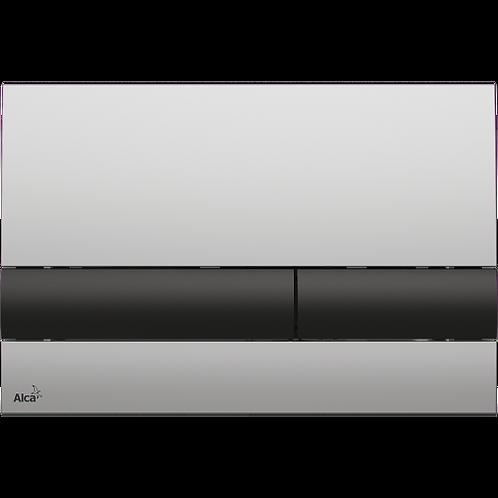Кнопка управления (xром-мат/черный) для систем инсталляции, Alcaplast M1712-8