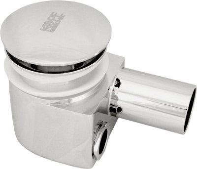 Сифон хром. для раковины с внешним и внутренним переливом и донным клапаном Kopf