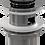 Thumbnail: Донный клапан Alcaplast цельнометаллический с переливом и большой заглушкой A390