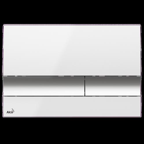 Кнопка управления (белый/xром-глянец) для систем инсталляции, Alcaplast M1720-1