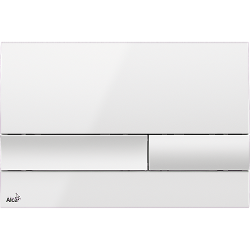 Кнопка управления (белый-глянец) для скрытых систем инсталляции, Alcaplast M1730