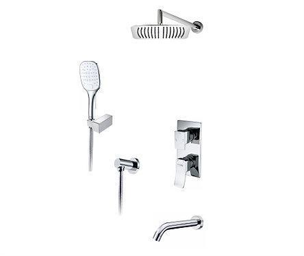 А171619 Встр-мый компл. ванны с верхн душ насадкой, лейкой и изливом WasserKRAFT