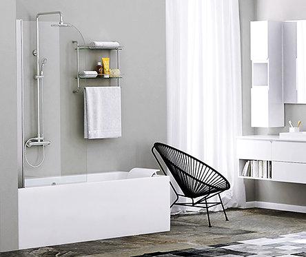 Leine 35P01-80 Стеклянная шторка для душа, распашная,одностворчатая 800х1400