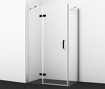 Aller 10H06LBLACK Душ уголок, прямоуг., с левой распашной дверью 1200x800x2000