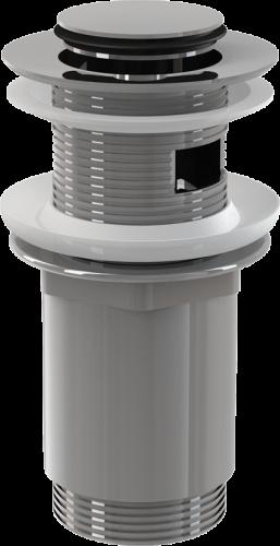 Донный клапан Alcaplast цельнометаллический с переливом и малой заглушкой A391