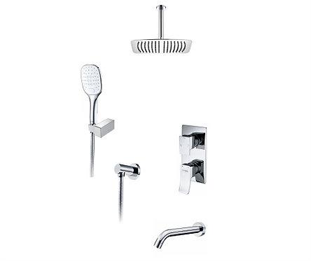 А171668 Встр-мый компл. ванны с верх. душ насадкой, лейкой и изливом WasserKRAFT