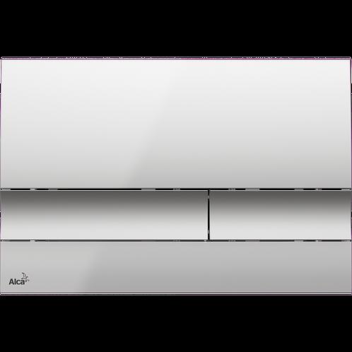 Кнопка управления (хром-матовый) для скрытых систем инсталляции, Alcaplast M1722