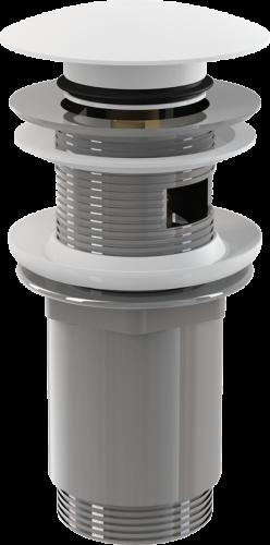 Донный клапан Alcaplast цельнометаллический с переливом, большой заглушкой A392B