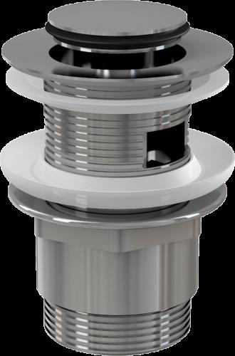 Донный клапан Alcaplast цельнометаллический с переливом и малой заглушкой A39