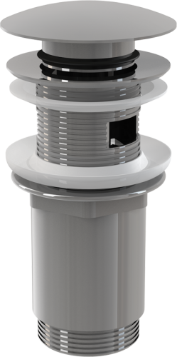 Донный клапан Alcaplast цельнометаллический с переливом и большой заглушкой A392