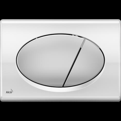 Кнопка управления (xром-глянец/мат) для скрытых систем инсталляции,Alcaplast M73
