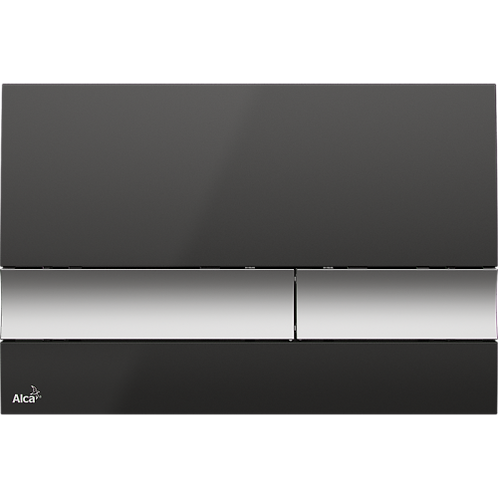 Кнопка управления (черный/xром-мат) для систем инсталляции, Alcaplast M1728-2