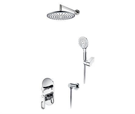 A16830 Встраиваемый комплект для душа с верхней душ насадкой и лейкой WasserKRAF