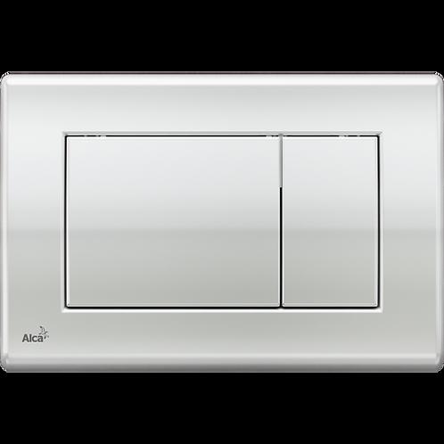 Кнопка управления (хром-глянец) для скрытых систем инсталляции, Alcaplast M271