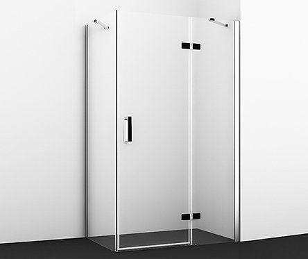 Aller 10H10RBLACK Душ уголок, прямоуг., с правой распашной дверью1200x1000x2000
