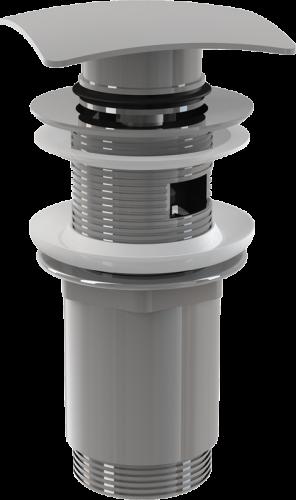 Донный клапан Alcaplast цельнометаллический с переливом, квадратной заглушк A393