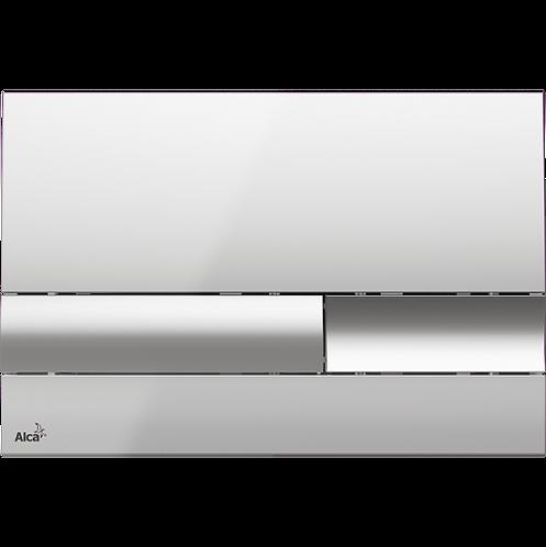 Кнопка управления (хром-глянец) для скрытых систем инсталляции, Alcaplast M1741