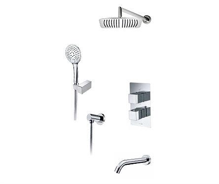 А171519 Thermo Встр-й компл. ванны с верх. душ насадкой, лейкой и излив WasserKR