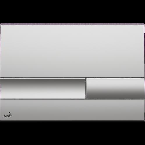 Кнопка управления (хром-матовый) для скрытых систем инсталляции, Alcaplast M1732