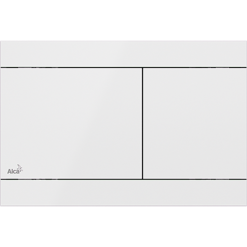 Кнопка управления (нержавеющая сталь-белый глянец) Alcaplast Fun White
