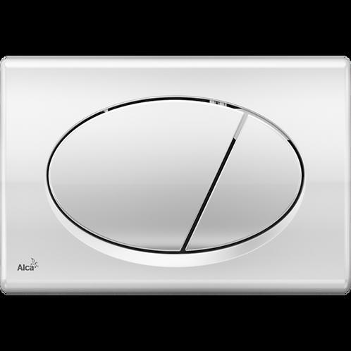 Кнопка управления, (xром-глянец) для скрытых систем инсталляции, Alcaplast M71