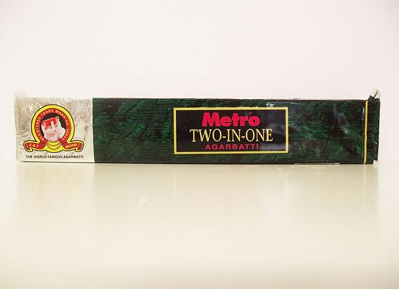 Metro Two in One Agarbatti (Incense Sticks)