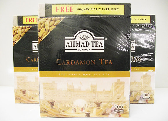 Ahmed Tea London Cardamon Tea (100 Tea Bags)