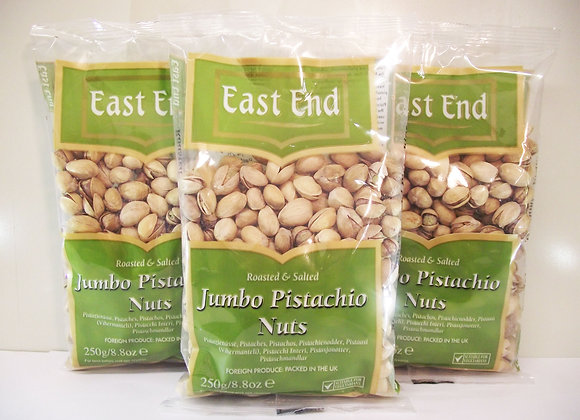 East End Roasted & Salted Jumbo Pistachio Nuts 250g