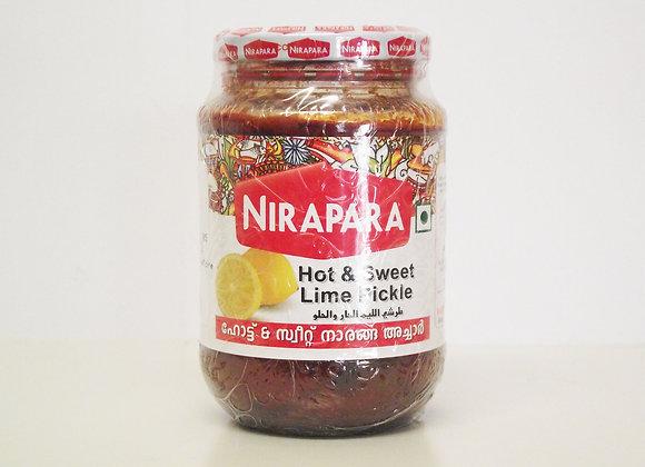 Nirapara Hot & Sweet Lime Pickle