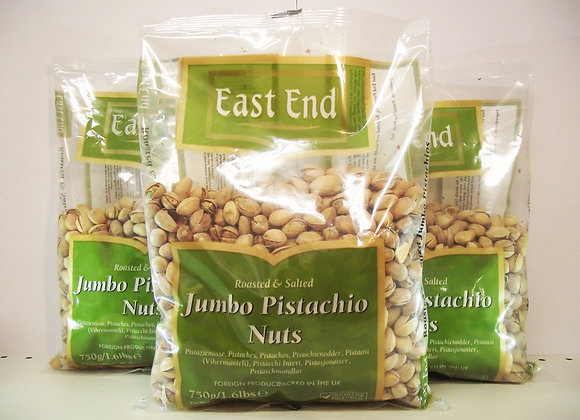 East End Roasted & Salted Jumbo Pistachio Nuts 750g