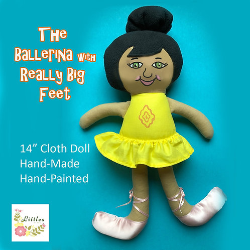 The Ballerina with Really Big Feet Companion Doll