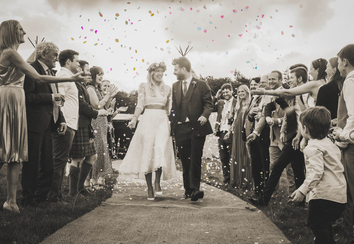 Lucy & Rob Wedding Photography - Bowes, North East England