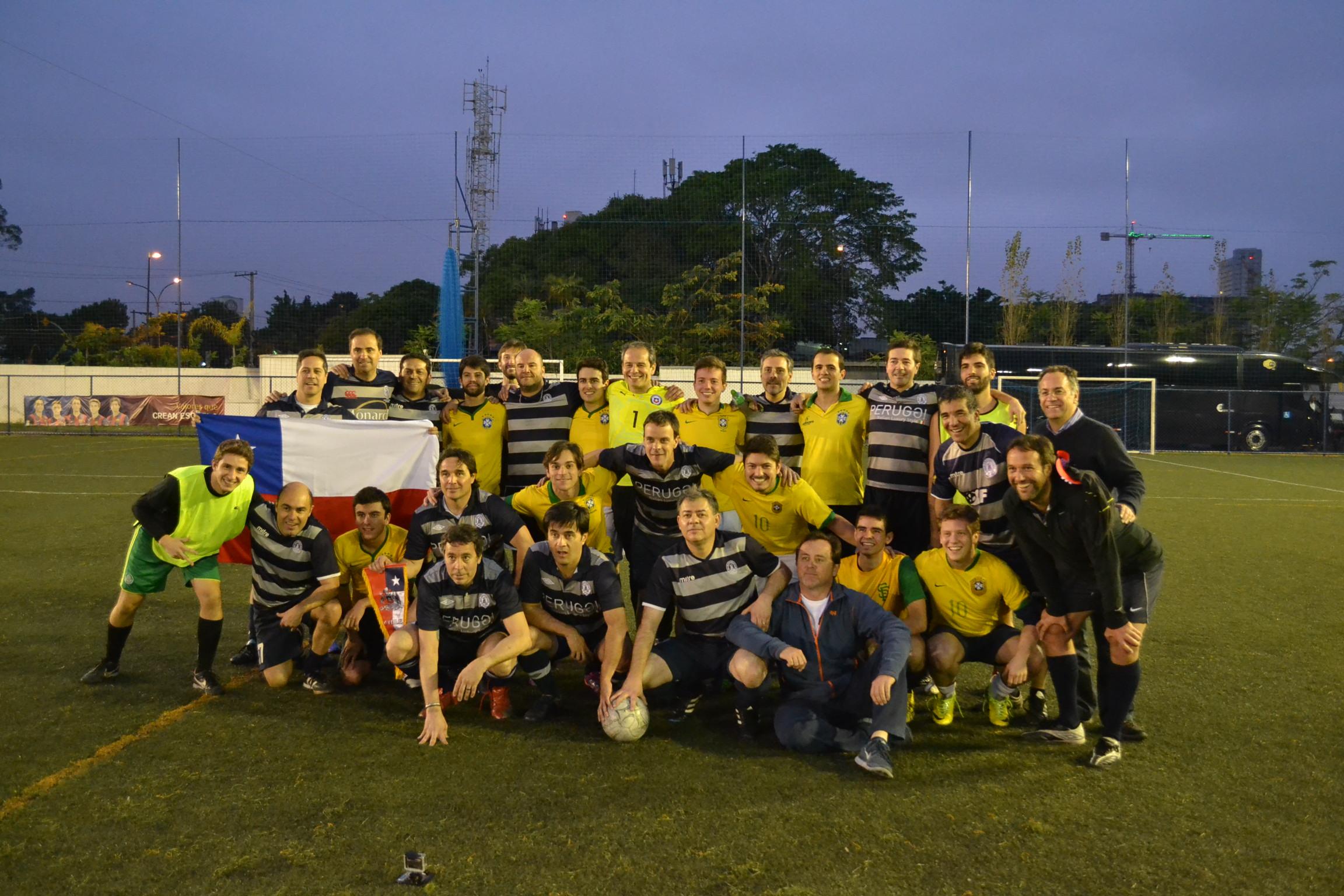 Jogo entre amigos Brasil x Chile