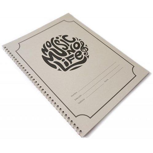 Cuaderno Pentagramado Grande 50 Paginas