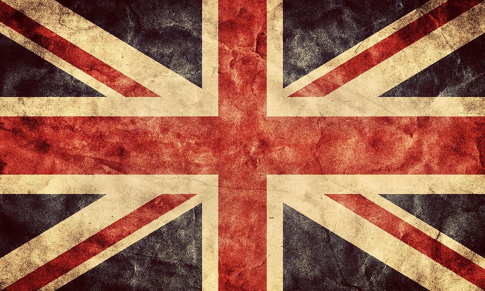 The United Kingdom or Union Jack grunge flag. Vintage, retro style. High resolut
