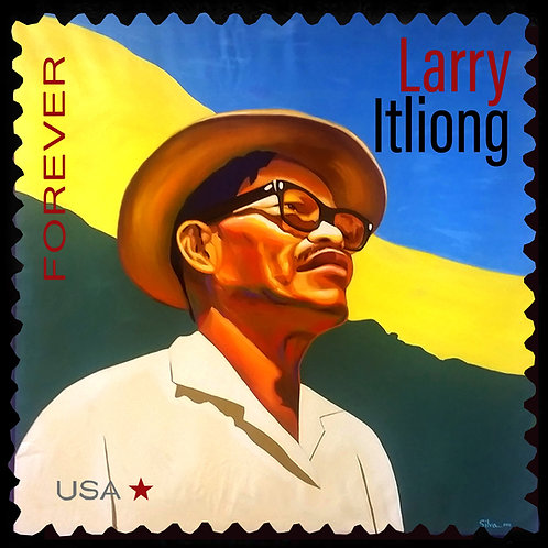 """Forever Stamp: Larry Itliong (24"""" x 24"""") Giclee on Canvas"""