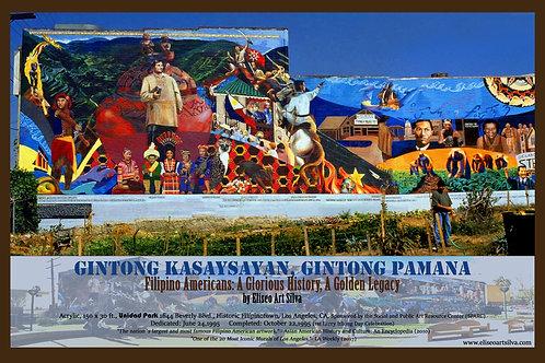 """Filipinotown Mural (18"""" x 12"""") Poster"""